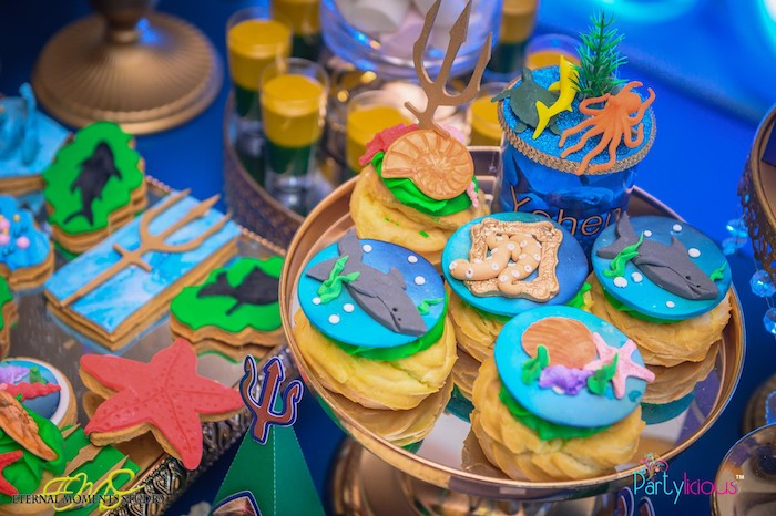 Under the Sea Cream Puffs from an Aquaman and Princess Mera Birthday Party on Kara's Party Ideas | KarasPartyIdeas.com (22)