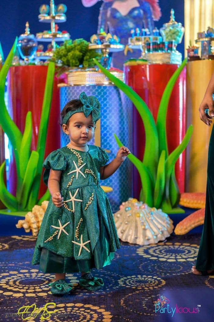 Starfish Dress from an Aquaman and Princess Mera Birthday Party on Kara's Party Ideas   KarasPartyIdeas.com (21)