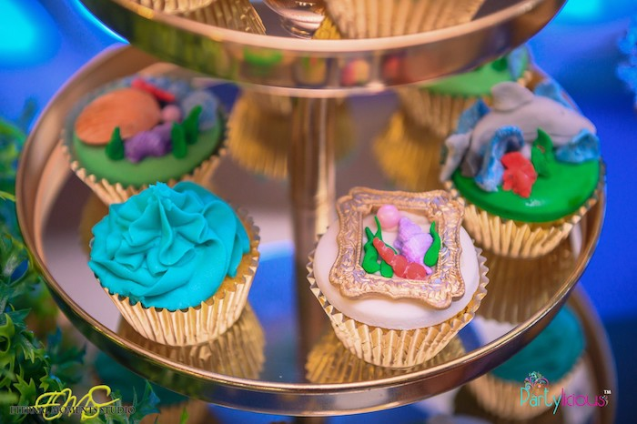Cupcakes from an Aquaman and Princess Mera Birthday Party on Kara's Party Ideas | KarasPartyIdeas.com (5)