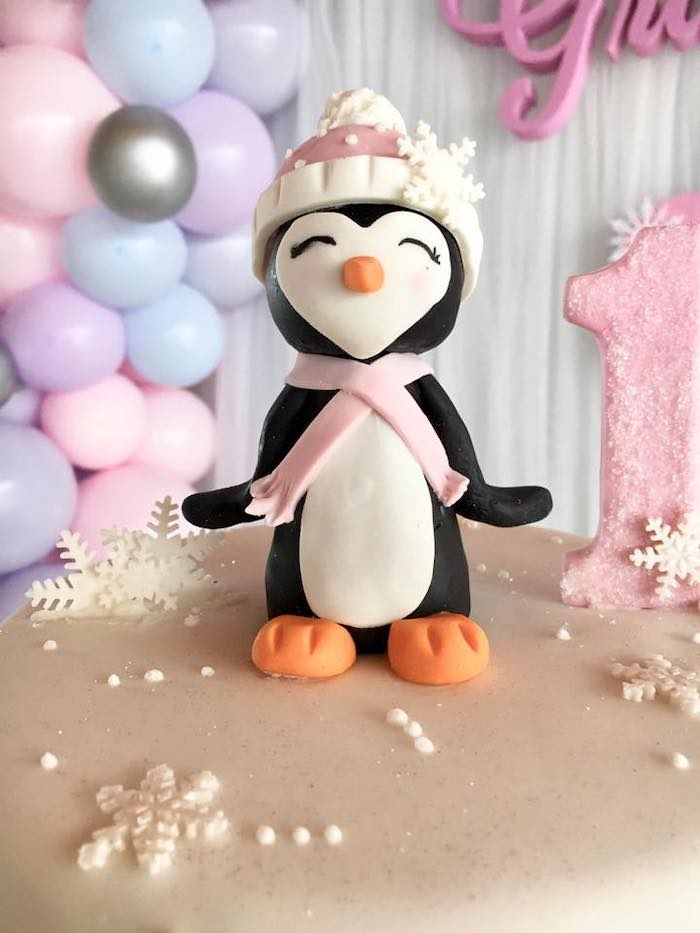 Penguin Cake Topper from an Arctic Penguin Party on Kara's Party Ideas | KarasPartyIdeas.com (8)