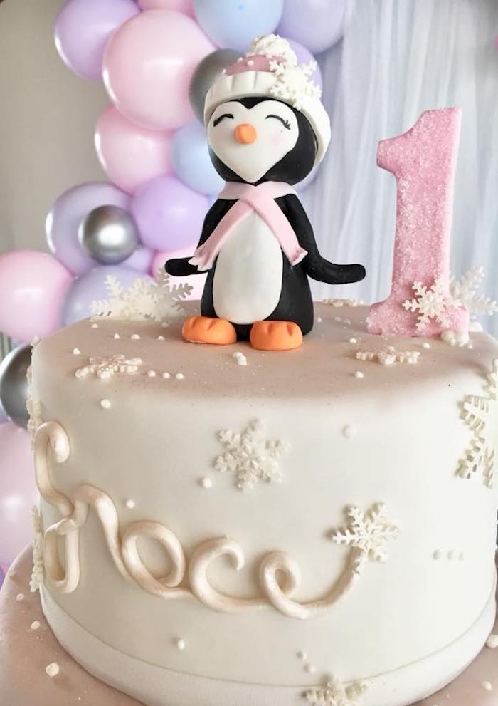 Penguin Cake Topper from an Arctic Penguin Party on Kara's Party Ideas | KarasPartyIdeas.com (7)