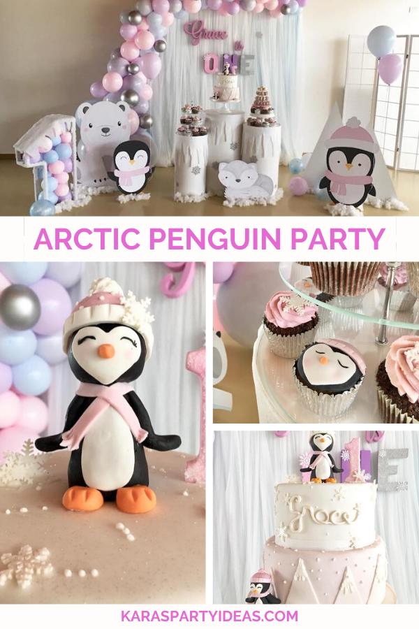 Arctic Penguin Party via Kara's Party Ideas - KarasPartyIdeas.com