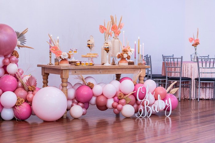 Oh Baby Boho Sweet Table from a Bohemian Chic Baby Shower on Kara's Party Ideas | KarasPartyIdeas.com (18)