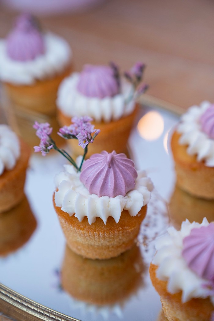 Boho Cupcakes from a Bohemian Chic Baby Shower on Kara's Party Ideas | KarasPartyIdeas.com (8)