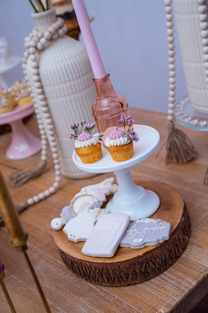 Cupcakes and Cookies from a Bohemian Chic Baby Shower on Kara's Party Ideas | KarasPartyIdeas.com (7)