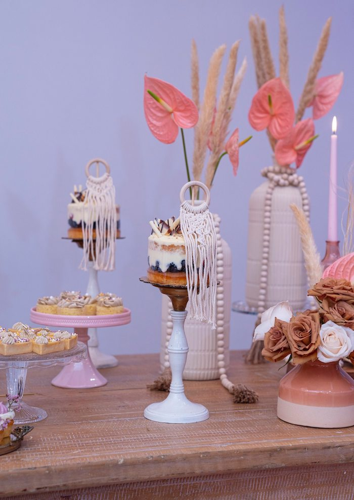 Boho Sweet Table from a Bohemian Chic Baby Shower on Kara's Party Ideas | KarasPartyIdeas.com (5)
