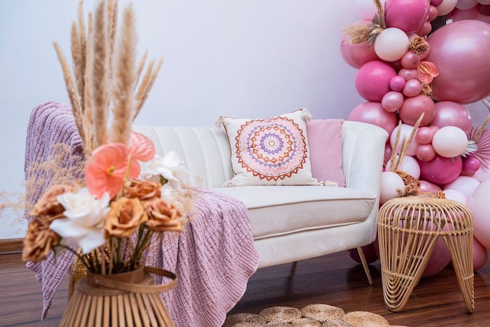 Chic Bohemian Lounge from a Bohemian Chic Baby Shower on Kara's Party Ideas | KarasPartyIdeas.com (33)