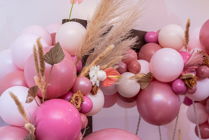 Boho Bloom Balloon Arch from a Bohemian Chic Baby Shower on Kara's Party Ideas | KarasPartyIdeas.com (30)