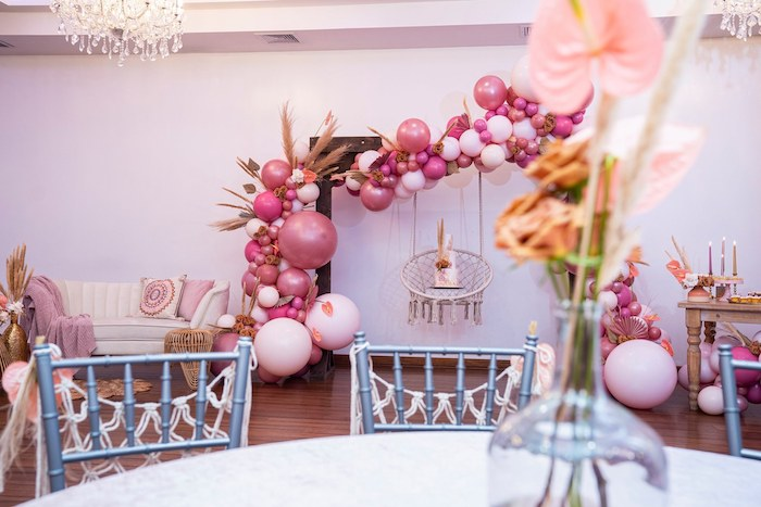 Boho Cake Swing + Arch from a Bohemian Chic Baby Shower on Kara's Party Ideas | KarasPartyIdeas.com (29)