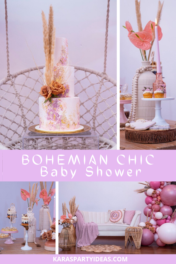 Bohemian Chic Baby Shower via Kara's Party Ideas - KarasPartyIdeas.com