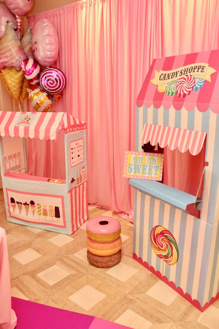 Candy Shoppe Stands from a Candyland Birthday Party on Kara's Party Ideas | KarasPartyIdeas.com (18)