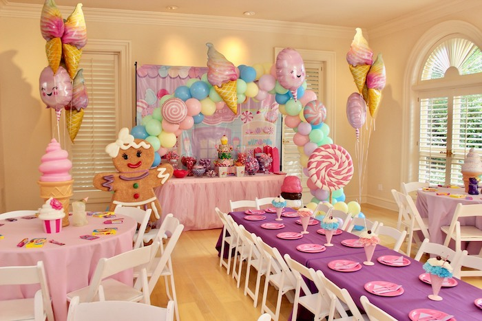 Candy Themed Party Tables from a Candyland Birthday Party on Kara's Party Ideas | KarasPartyIdeas.com (17)
