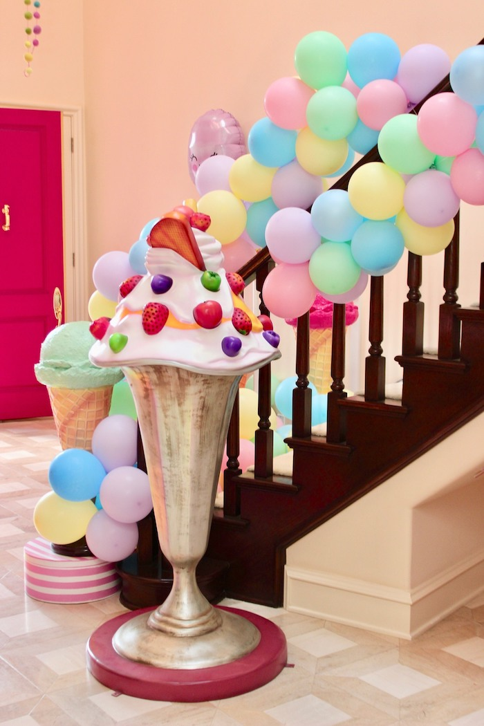 Ice Cream Sundae Prop from a Candyland Birthday Party on Kara's Party Ideas | KarasPartyIdeas.com (16)