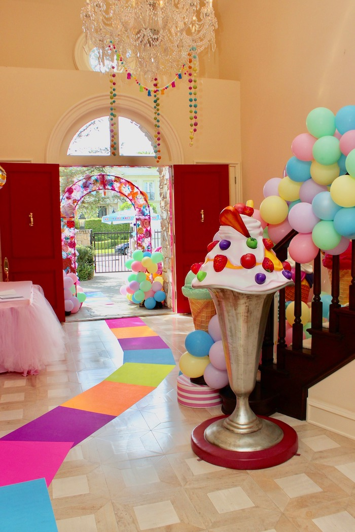 Candy Land Color Square Walkway from a Candyland Birthday Party on Kara's Party Ideas | KarasPartyIdeas.com (15)