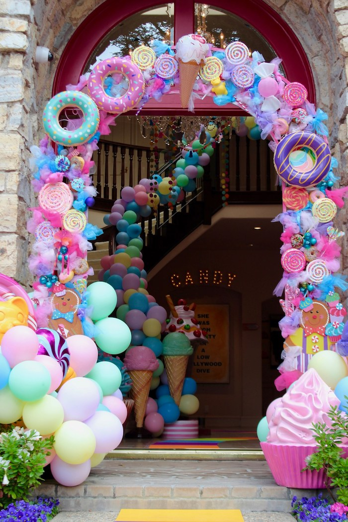 Candy Themed Arch from a Candyland Birthday Party on Kara's Party Ideas | KarasPartyIdeas.com (14)