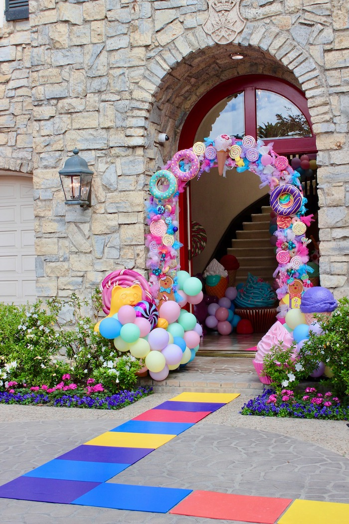 Candy Land Square Walkway + Arch from a Candyland Birthday Party on Kara's Party Ideas | KarasPartyIdeas.com (13)