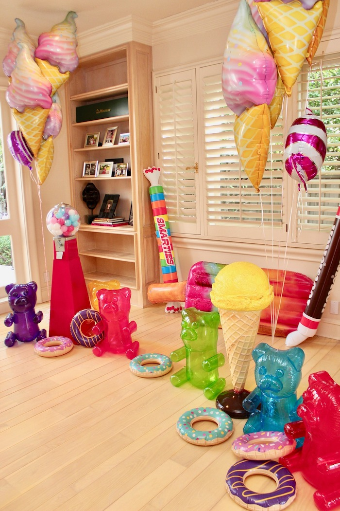 Inflatable Candy/Sweets from a Candyland Birthday Party on Kara's Party Ideas | KarasPartyIdeas.com (12)