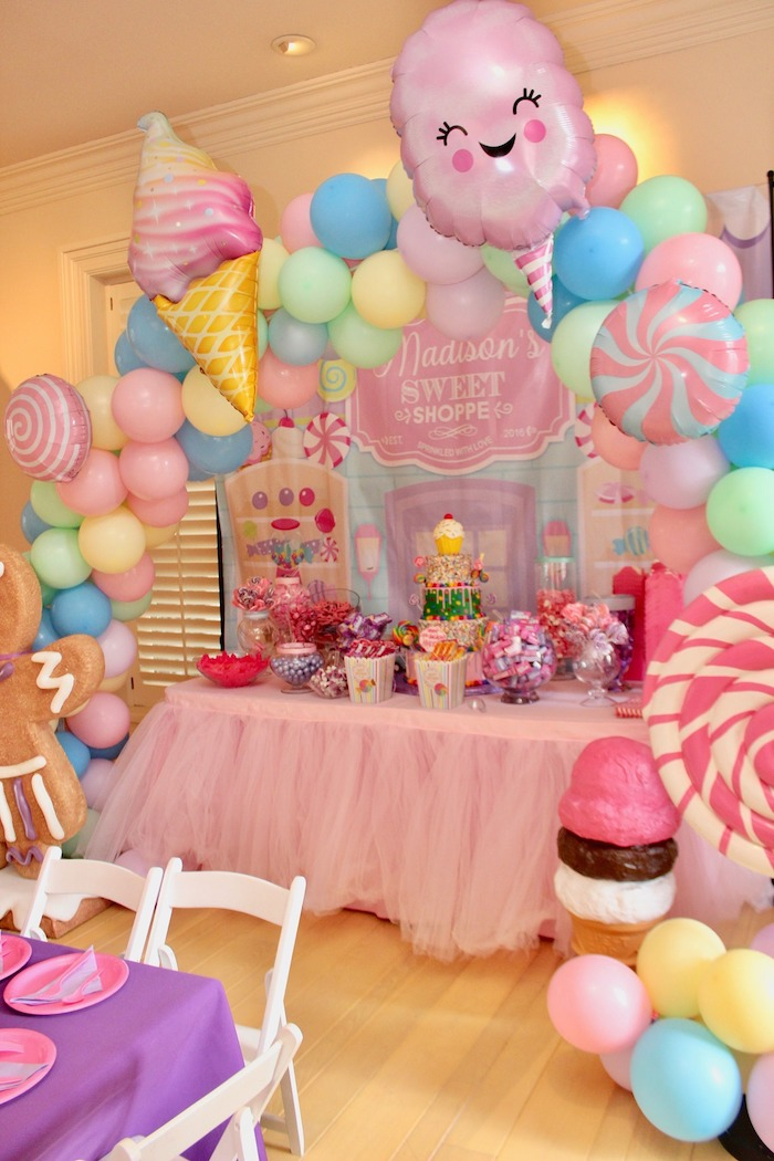 Candyland Themed Dessert Table from a Candyland Birthday Party on Kara's Party Ideas | KarasPartyIdeas.com (9)