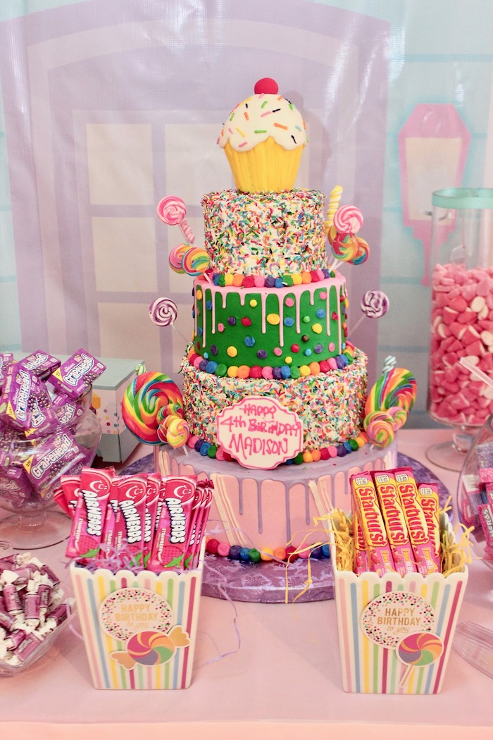 Candy Land Cake from a Candyland Birthday Party on Kara's Party Ideas | KarasPartyIdeas.com (27)