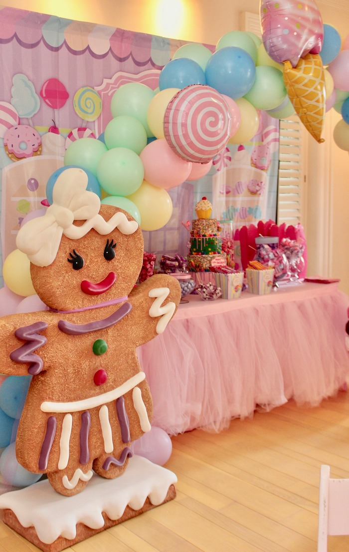 Gingerbread Standee + Candy Land Sweet Table from a Candyland Birthday Party on Kara's Party Ideas | KarasPartyIdeas.com (25)
