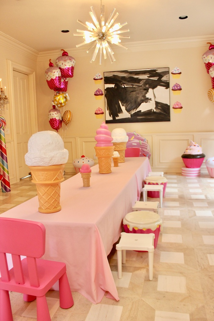 Sweet/Candy Themed Guest Table from a Candyland Birthday Party on Kara's Party Ideas | KarasPartyIdeas.com (20)