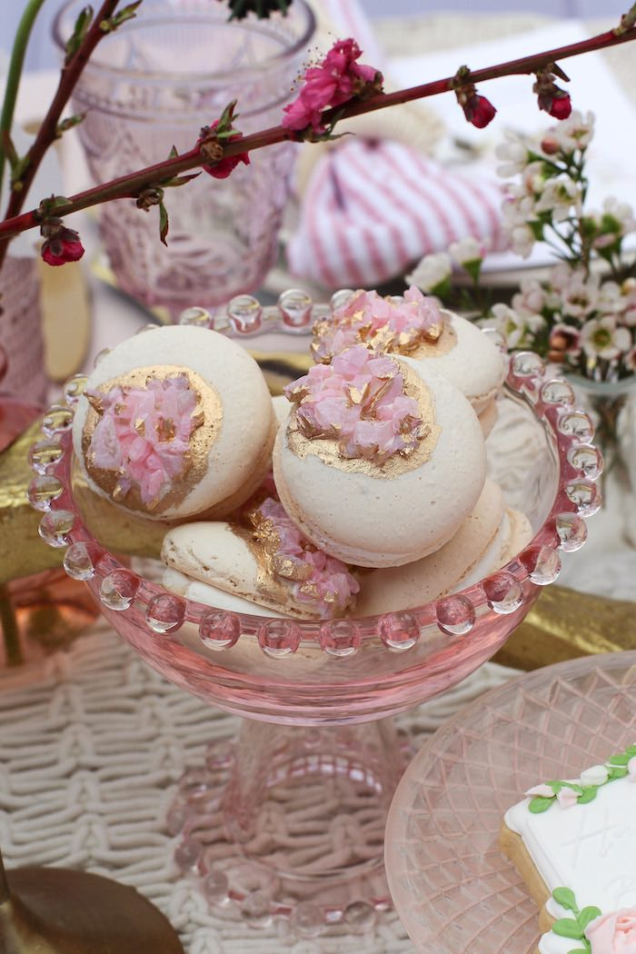 Boho Glam Macarons from a Celebrate Your Tribe Birthday Luncheon on Kara's Party Ideas | KarasPartyIdeas.com (36)