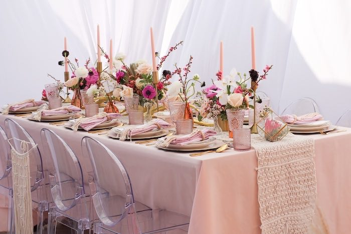Boho Glam Guest Table from a Celebrate Your Tribe Birthday Luncheon on Kara's Party Ideas | KarasPartyIdeas.com (34)