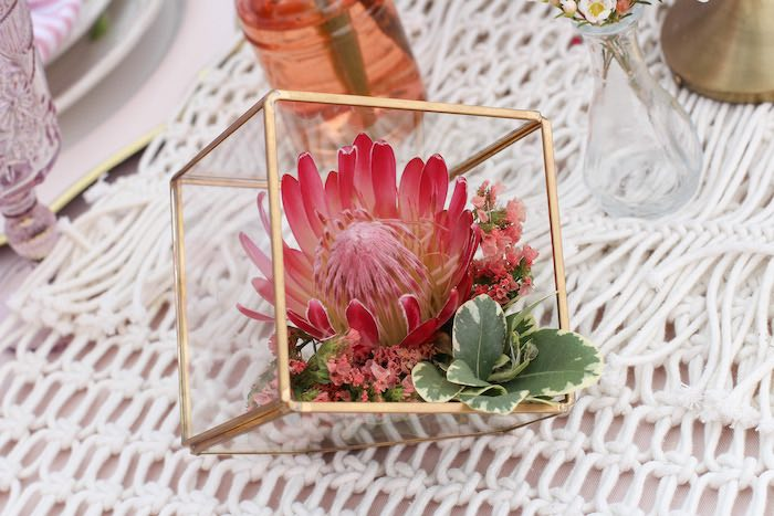 Modern Boho Glam Terrarium Centerpiece from a Celebrate Your Tribe Birthday Luncheon on Kara's Party Ideas | KarasPartyIdeas.com (33)