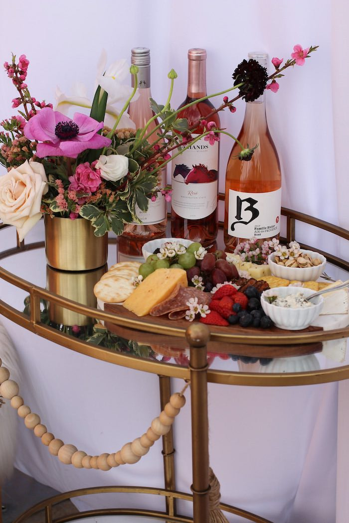 Charcuterie Board + Drink Bar from a Celebrate Your Tribe Birthday Luncheon on Kara's Party Ideas | KarasPartyIdeas.com (23)