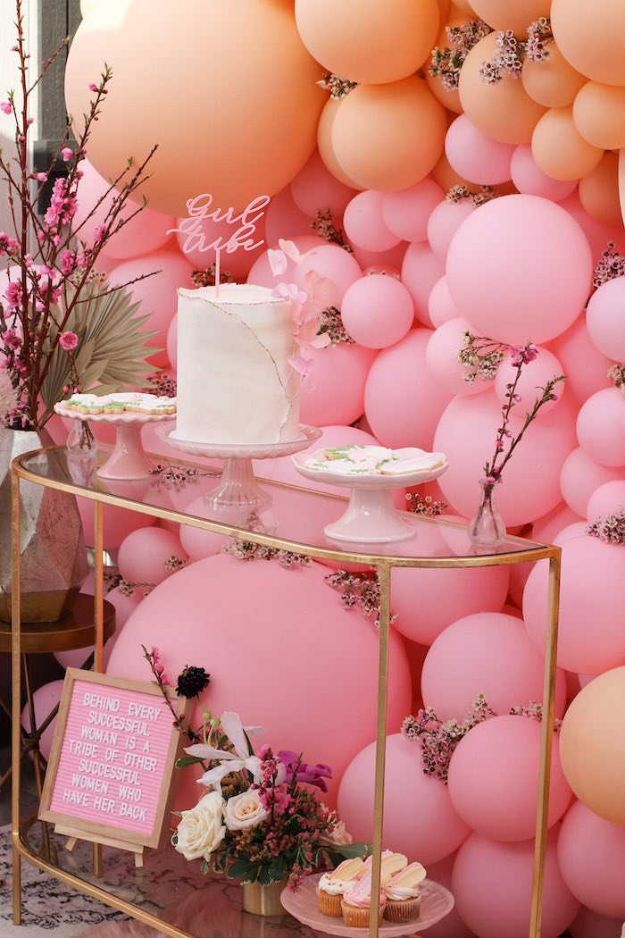Glam Dessert Bar from a Celebrate Your Tribe Birthday Luncheon on Kara's Party Ideas | KarasPartyIdeas.com (20)
