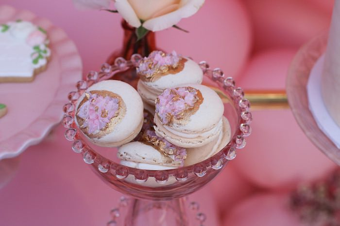 Glam Boho Macarons from a Celebrate Your Tribe Birthday Luncheon on Kara's Party Ideas | KarasPartyIdeas.com (9)
