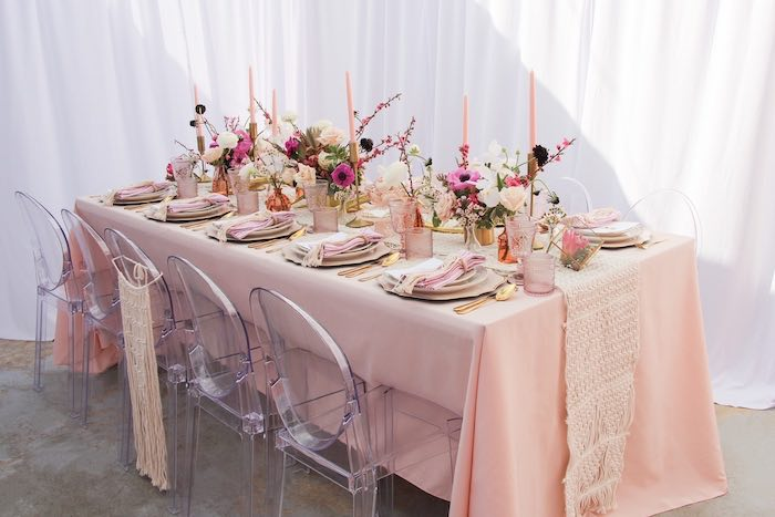 Boho Glam Guest Table from a Celebrate Your Tribe Birthday Luncheon on Kara's Party Ideas | KarasPartyIdeas.com (41)