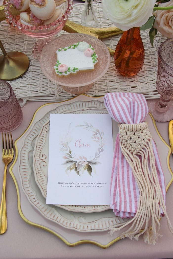 Boho Glam Table Setting from a Celebrate Your Tribe Birthday Luncheon on Kara's Party Ideas | KarasPartyIdeas.com (38)