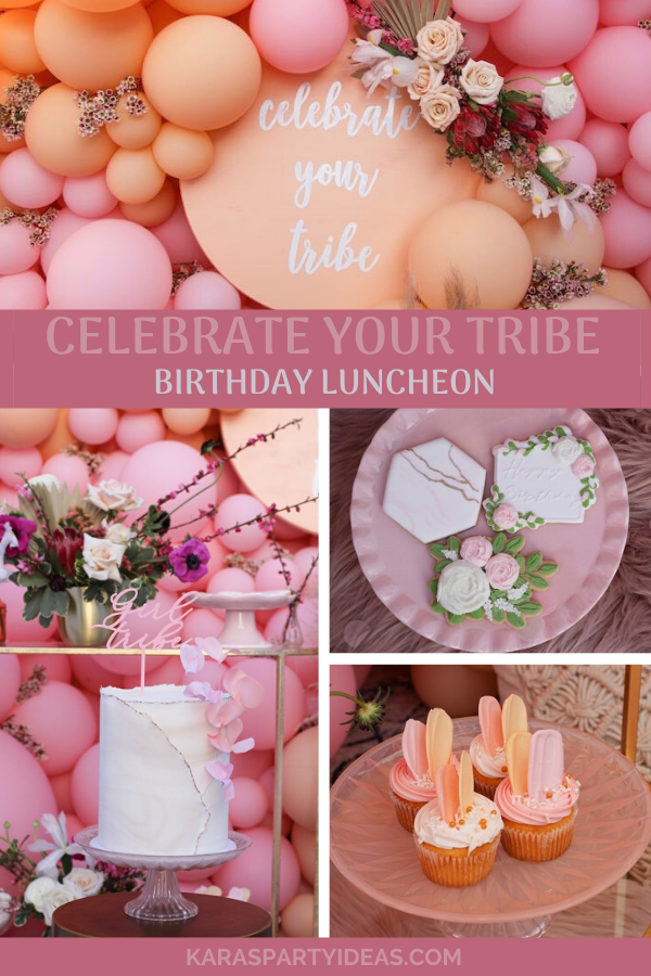 Celebrate Your Tribe Birthday Luncheon via Kara's Party Ideas - KarasPartyIdeas.com