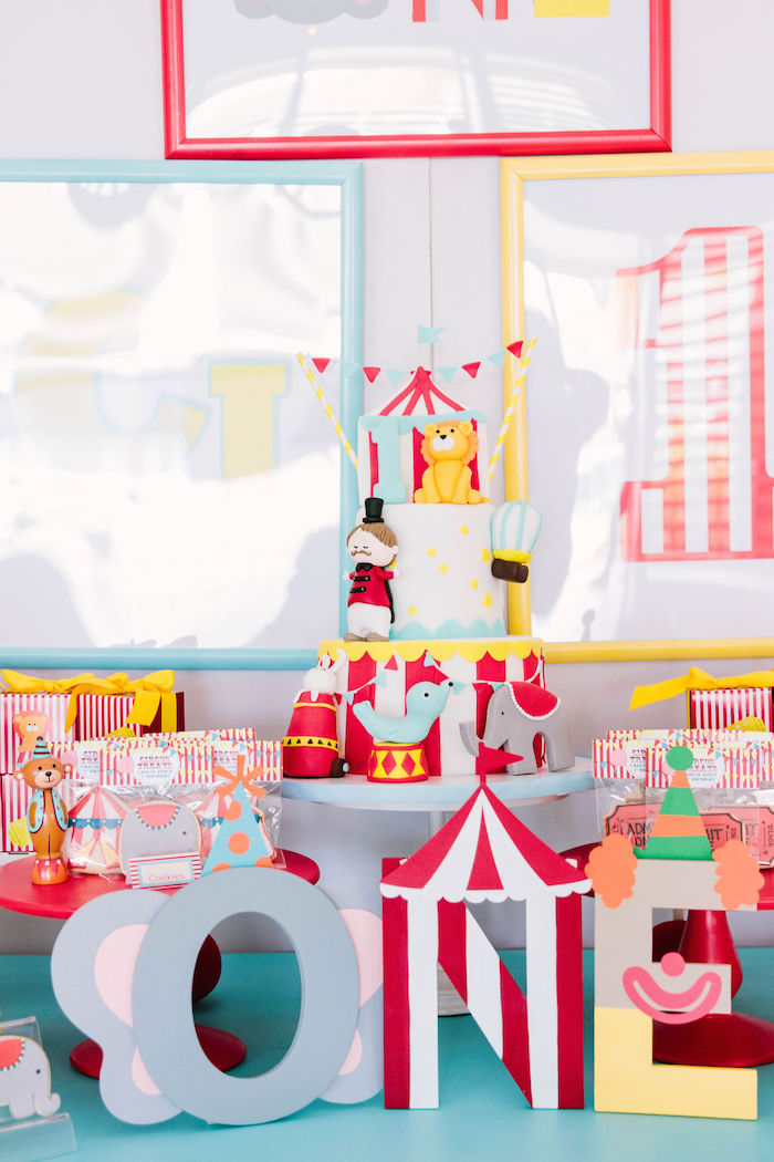 Circus Themed Dessert Table from a Circus Party on Kara's Party Ideas | KarasPartyIdeas.com (12)