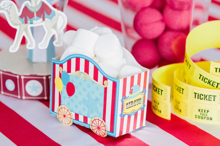Train Car Sweet Box from a Circus Party on Kara's Party Ideas | KarasPartyIdeas.com (6)