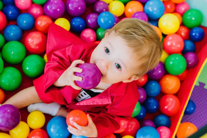 Ball Pit from a Circus Party on Kara's Party Ideas | KarasPartyIdeas.com (4)