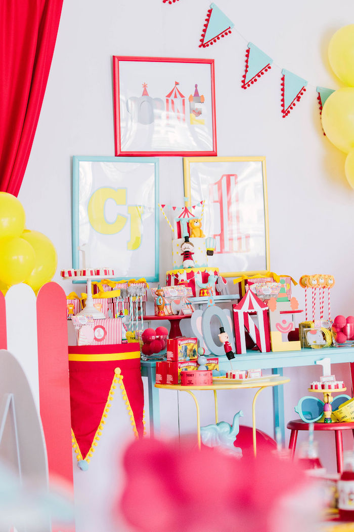Circus Themed Dessert Table from a Circus Party on Kara's Party Ideas | KarasPartyIdeas.com (25)