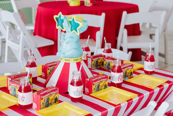 Circus Themed Dessert Table from a Circus Party on Kara's Party Ideas | KarasPartyIdeas.com (24)