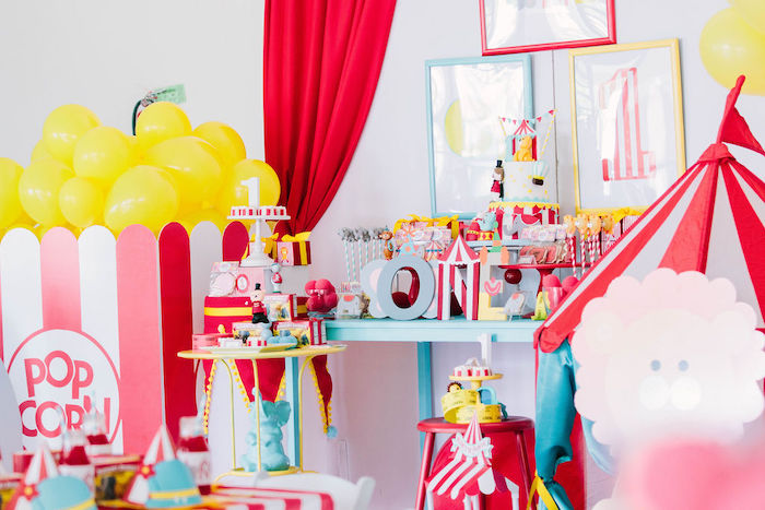 Circus Themed Dessert Table from a Circus Party on Kara's Party Ideas | KarasPartyIdeas.com (23)