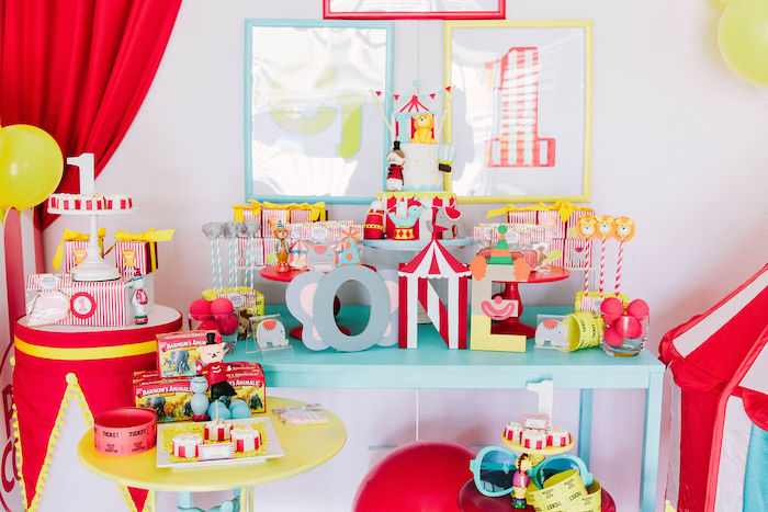Circus Themed Dessert Table from a Circus Party on Kara's Party Ideas | KarasPartyIdeas.com (19)