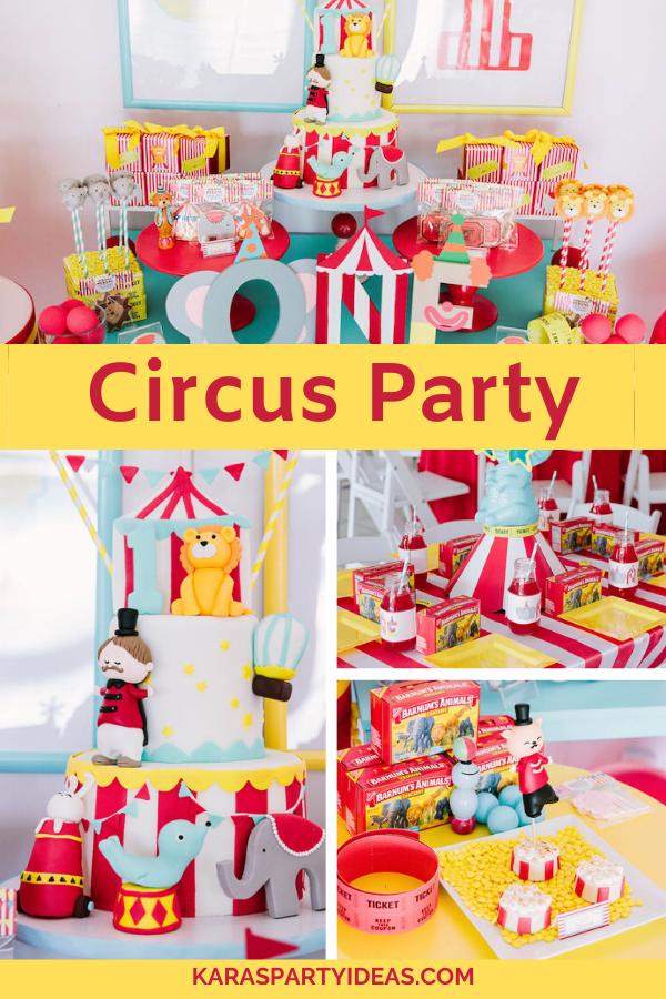 Circus Party via Kara's Party Ideas - KarasPartyIdeas.com