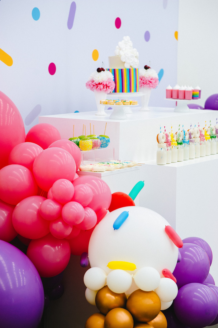 Confetti & Sprinkles Birthday Party on Kara's Party Ideas | KarasPartyIdeas.com (32)