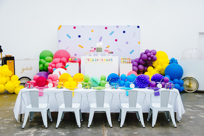 Confetti & Sprinkles Birthday Party on Kara's Party Ideas | KarasPartyIdeas.com (14)