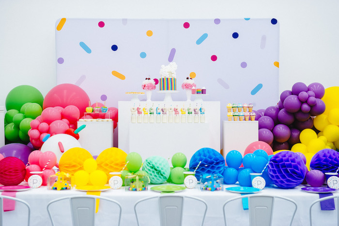 Confetti & Sprinkles Birthday Party on Kara's Party Ideas | KarasPartyIdeas.com (13)