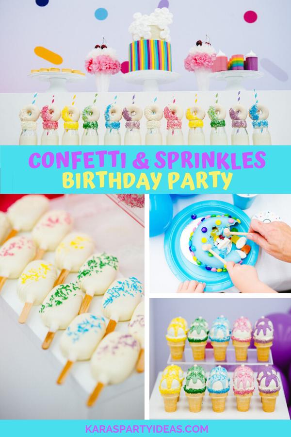 Confetti & Sprinkles Birthday Party via Kara's Party Ideas - KarasPartyIdeas.com