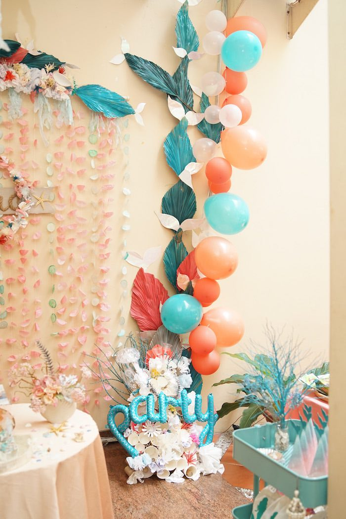 Coral Reef Mermaid Birthday Shell-abration on Kara's Party Ideas | KarasPartyIdeas.com (26)