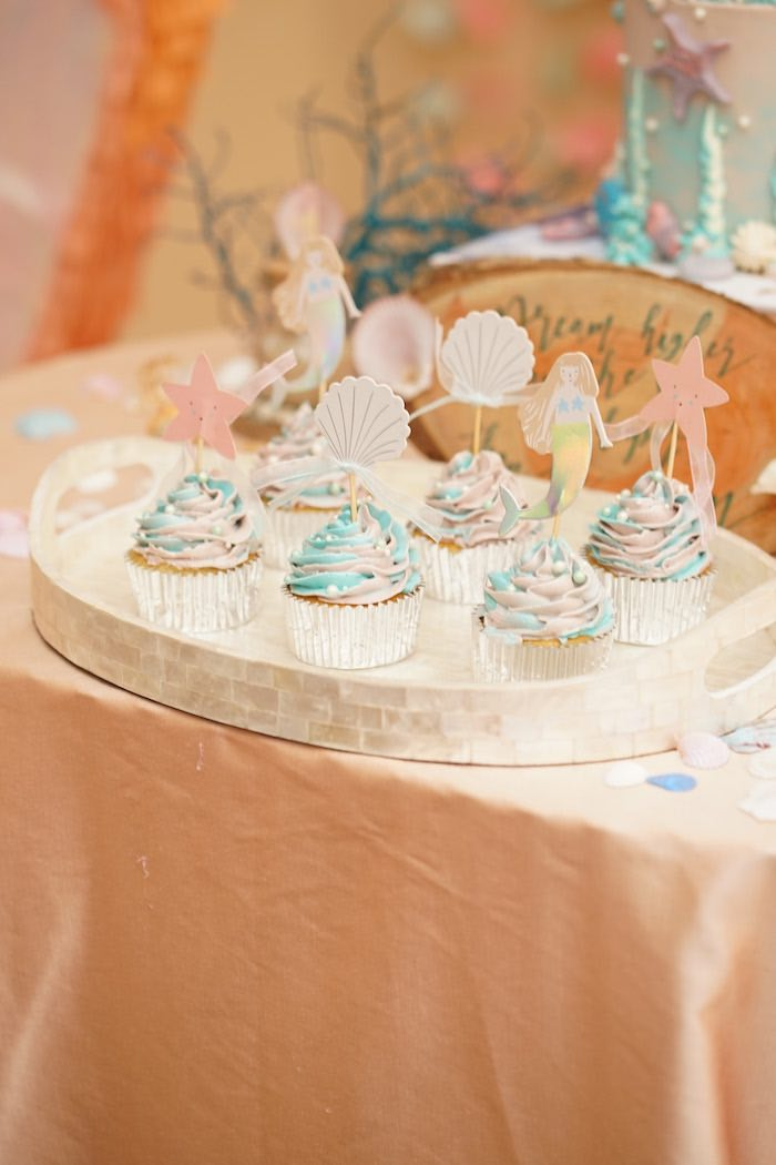 Coral Reef Mermaid Birthday Shell-abration on Kara's Party Ideas | KarasPartyIdeas.com (24)