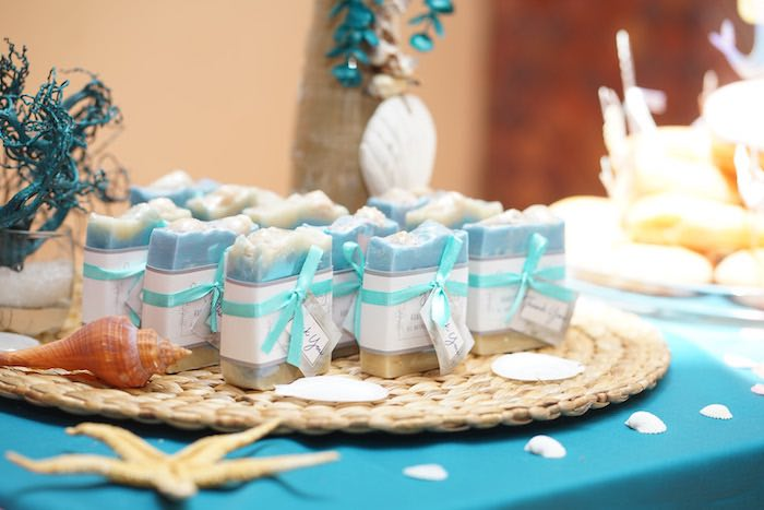 Soap Favors from a Coral Reef Mermaid Birthday Shell-abration on Kara's Party Ideas | KarasPartyIdeas.com (20)