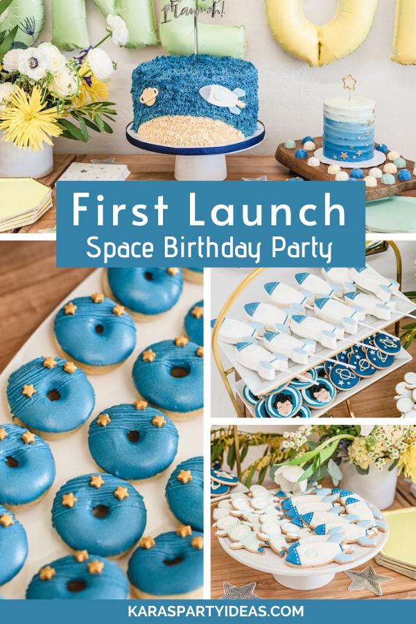 First Launch Space Birthday Party via Kara's Party Ideas - KarasPartyIdeas.com